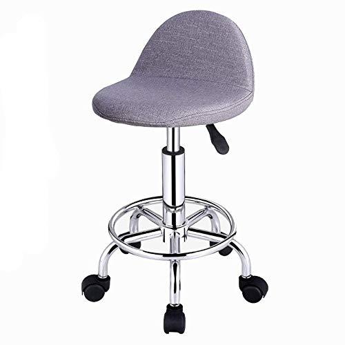 ZCXBHD 360° vrije rotatie hoge stoel, in hoogte verstelbare draaibare barkruk, vrije tijd bar stoel op wielen, voor woonkamers, keukens, restaurants, cafés, bars