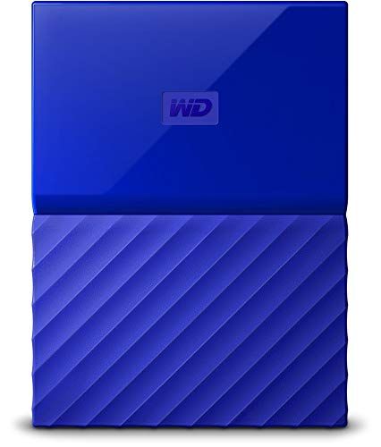 WD 1TB Blue My Passport Portable External Hard Drive - USB 3.0 - WDBYNN0010BBL-WESN