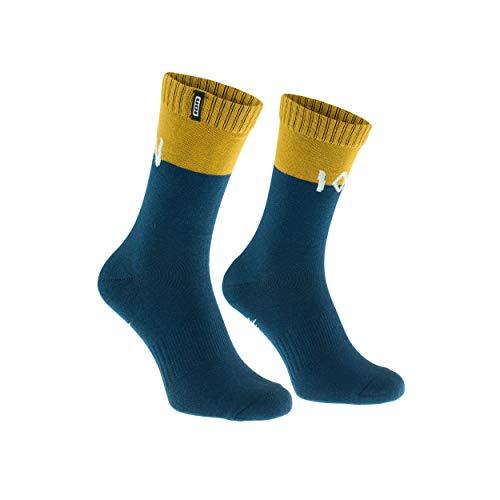Ion Scrub Fahrrad Socken blau/gelb 2021: Größe: 35-38