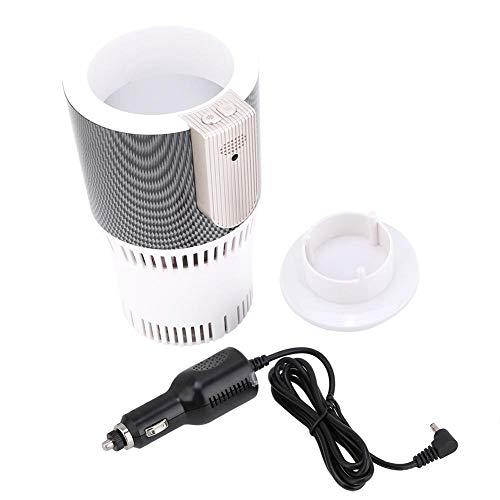 2-in-1 kop warmer koeler, intelligente auto beker warmer koeler, draagbare slimme auto beker warmer en koeler, voor voertuig, reizen, kantoor, enz.(Witte DC-adapter)