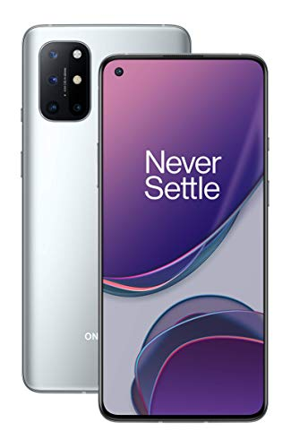 OnePlus 8T 5G 8GB RAM 128GB Storage UK SIM-Free Smartphone with Quad Camera, 65W Warp Charge and Dual SIM - Lunar Silver - 2 Year Warranty