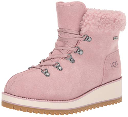 UGG Australia Damen W Birch LACE-UP Shearling Stiefeletten, Pink (PINK Crystal PCRY), 41 EU