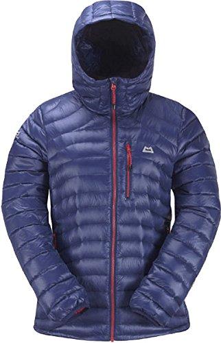 Mountain Equipment Womens Arete Hooded Jacket indigotrue red zips 16 UK Damen