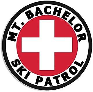 American Vinyl Round MT Bachelor SKI Patrol Sticker (or Oregon Mount Snow)