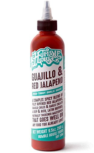 Humble House Guajillo and Red Jalapeno Sauce - Aged Tangy Garlic Sauce - A complex mix of red jalapenos, guajillo chiles and garlic - Perfect for Chicken wings, hummus, pork ribs, spring rolls, nachos