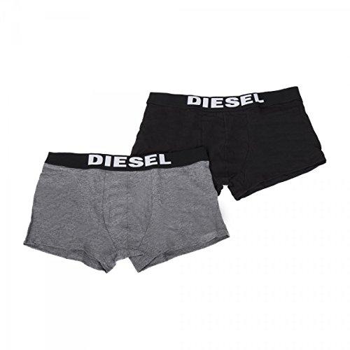 Diesel 2 Pack Men's Boxer Shorts Black, Dimensione:XL