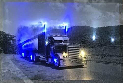 Samarkand-Lights LED-Bild mit Beleuchtung LED- Bilder Leinwandbild 65 x 45 cm Leuchtbild US Truck/LKW Wandbild