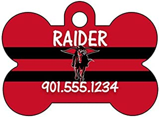 Texas Tech Red Raiders Dog Tag Pet Id Tag Personalized w/ Name & Number