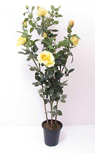 Deko-Rosenstamm in gelb aus Textil mit...