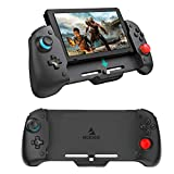 NexiGo Upgraded Switch Ergonomic Controller for Nintendo Switch Handheld Mode, Ergonomic Controller with Adjustable 6-Axis Gyro, Dual Motor Vibration, Compatible with All Games of Switch