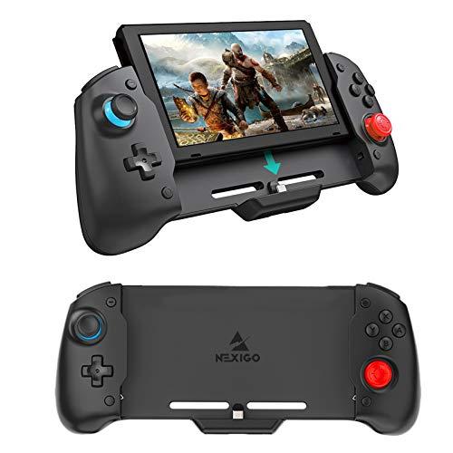 NexiGo Controlador ergonómico para Nintendo Switch, controlador ergonómico con giroscopio ajustable de 6 ejes, vibración de motor dual, compatible con todos los juegos de interruptor