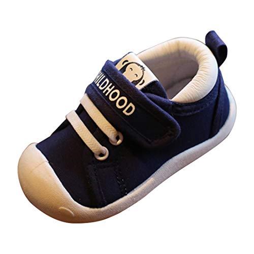 Joeupin - Zapatillas de lona livianas para niños (12-48 meses)