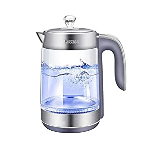BPA FREE 1.8L 2200W SpeedBoil Electric Glass Kettle Cordless Tea Coffee Pot BLUE LED Light Auto Shut-Off Dry Protection