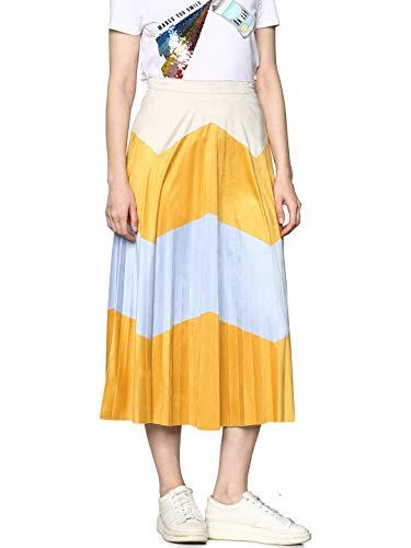 Only ONLJUNE Faux Suede Maxi Skirt Falda Plisada Midi Antelina Bicolor.