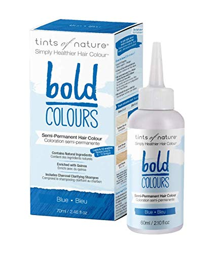 Tints of Nature Bold Blue, Vegan Semi Permanent Natural Hair Dye, Ammonia, PPD, Parabens, Silicone and Sulfates Free, Single