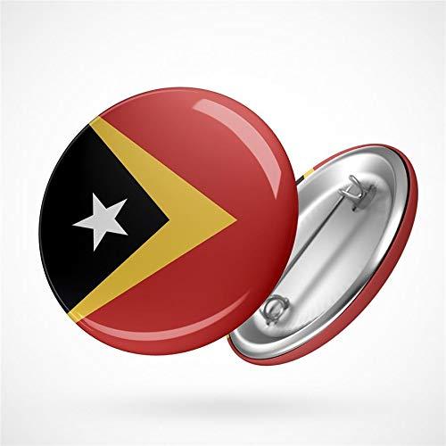 Hellweg Druckerei Button Anstecker East Timor Osttimor Flagge Asien Flag Badge Abzeichen Pin