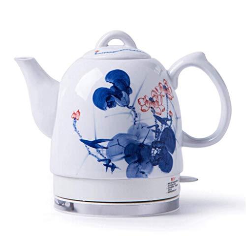 Unknow Base extraíble de cerámica de la Tetera eléctrica, protección contra ebullición en seco 1.2L China Estilo Vintage hierve Agua rápidamente para té Sopa de café Avena Hoja de Loto