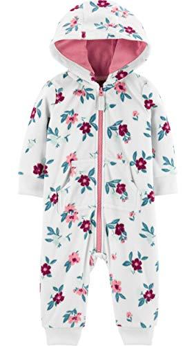 Macacão C/Capuz Fleece Floral Menina Carter's (9M)