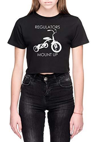 Regulators Mount Up Dames Crop T-Shirt Zwart Women's Crop T-Shirt Black