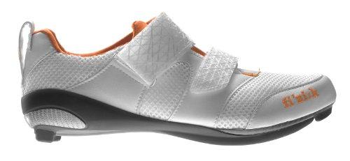 Fizik K1Donna–triatlón Ciclismo Zapatos, Mujer, White/Violet/Orange