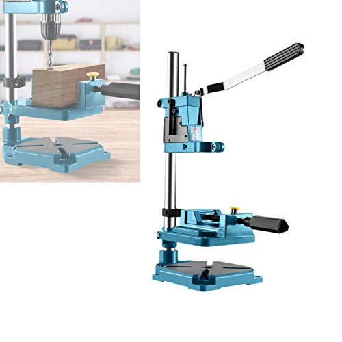 Manualks Precise Pillar Drill Stand,Drill Bench Press Stand Universal Tool Stand with Vice with Cast Iron Base for Electric Hand Drill Repair Tool