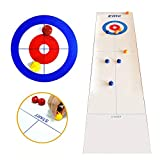 llio Pieghevole Mini Curling Table Curling Ball Gioco da Tavolo Curling per Kid Adult Fam...