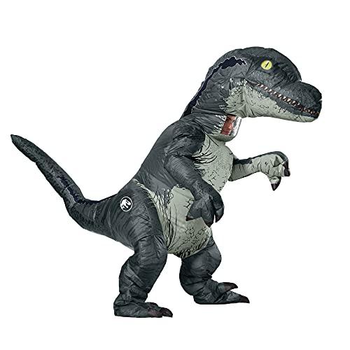 Rubie s Jurassic World – Costume Gonfiabile da Dinosauro Velociraptor per Adulti, Taglia Unica 820883