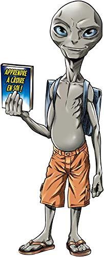 Okiwoki T-Shirt Noir Paul l'Alien parodique Paul l'Extraterrestre : Apprendre à Croire en soi. (Parodie Paul l'Alien)