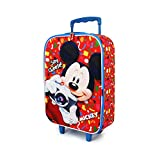 Karactermania Mickey Mouse Say Cheese-Soft 3D Trolley Suitcase Children's Luggage, 52 cm, 23 liters,Multicolour
