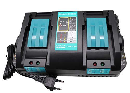 Golem-power 14.4V-18V DC18RD oplader voor Makita DC18RA DC18RC DC18SF 196933-6 snellader dubbele Makita accu 18V BL1815 BL1830B BL1840 B BL1850 B BL1860 14.4V BL1415 BL1430 BL1440 BL1450