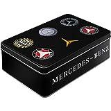 Nostalgic-Art 30746 Mercedes-Benz-Logo Evolution Keks-Dose | Aufbewahrungs-Box | Metall| mit...