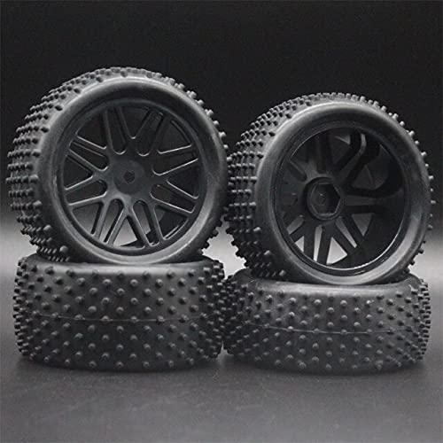 MZWNQ 3 uds para neumáticos y Ruedas de Coche Todoterreno a Escala RC 1/10 para HSP 93166/93107/93106 ( Color : Black )