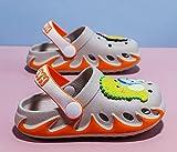 Coral Vaughan Zapatos para niños Zapatillas para niños Zapatillas para niños Hombres y niñas Bolsa de niñas Cabeza Zapatillas Playa Historieta Transpirable Sandalias Infantiles-Gris_25