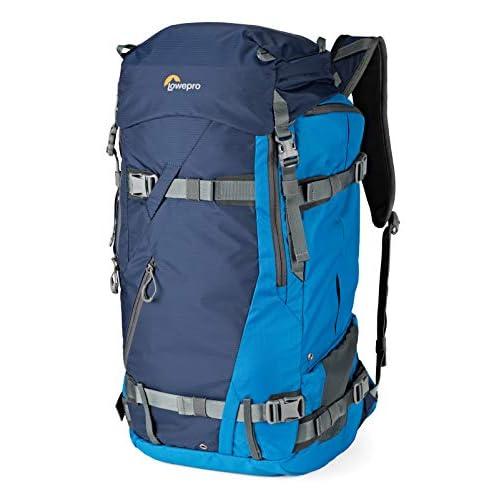 Lowepro LP37231-PWW Powder BP 500 AW Zaino Outdoor per Trekking Invernale, Escursionismo, Capiente per Attrezzatura Photo/Video,DSLR/Mirrorless/Lenses e Accessori Personali, Blu
