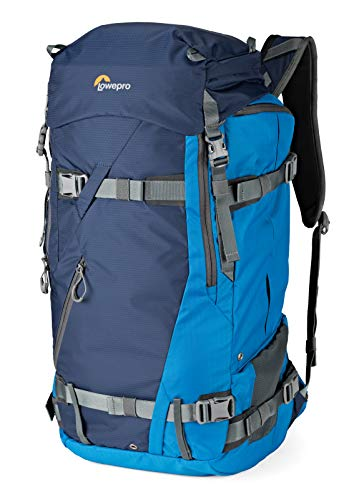 Lowepro LP37231-PWW Powder BP 500 AW Outdoor Rucksack (für Wintersport- und Trekking-Equipment für Foto/Video Equipment und persönliche Gegenstände, geeignet für DSLR/ Spiegellose & Zubehör) blau