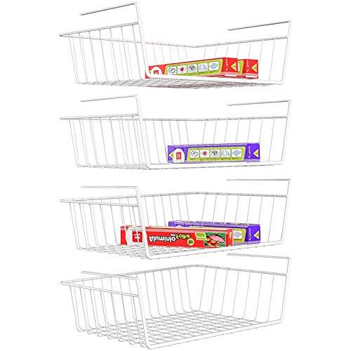 iSPECLE 4 Pack Under Shelf Basket for $19.79 plus FS w/Prime
