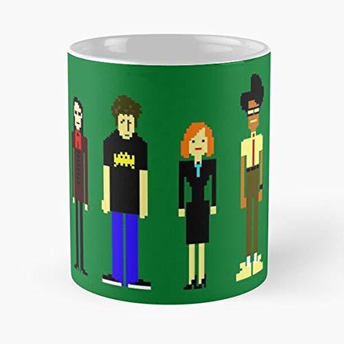 Roy Crowd Moss Geek Tv It Funny Eat Food Bite John Best Taza de café de cerámica de 11 oz
