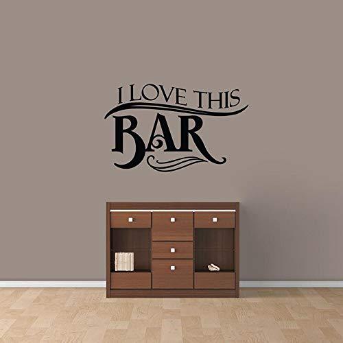 Me encanta este bar etiqueta de la pared cocina hombre cueva bar decoración interior beber decoración de la pared vinilo etiqueta de la pared