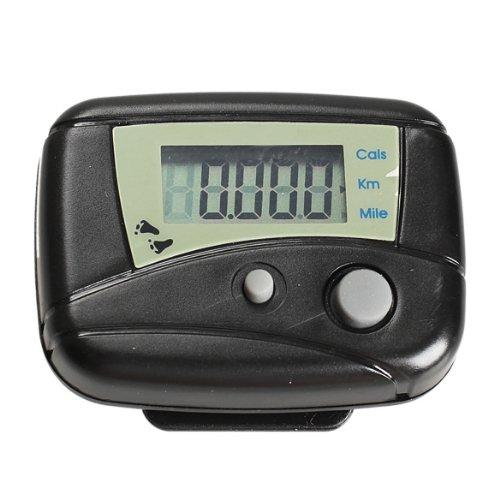 akaddy LCD Run Step Podómetro Distancia a pie Calorías Contador Pasómetro Negro