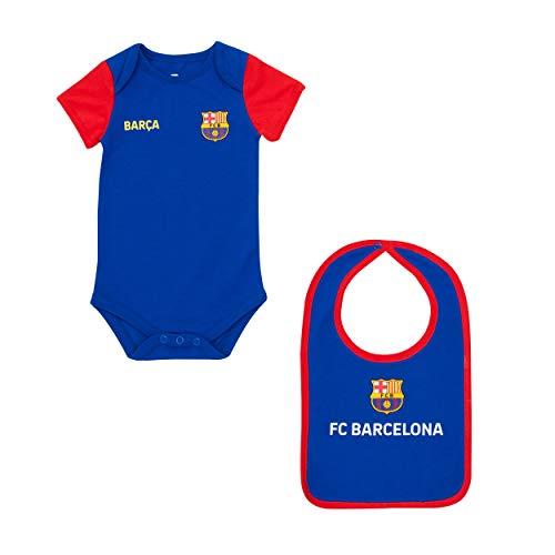 Fc Barcelone Body + Babero bébé Barca - Colección Oficial 12 Mes