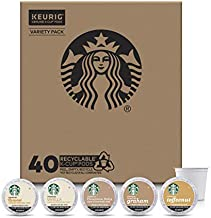 Starbucks Flavored K-Cup Coffee Pods Variety Pack for Keurig Brewers 40 Count (Pack of 1)