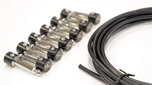 Kurrent Electric Lötfreies Gitarrenpedal-Patchkabel-Kit im 6er-Pack zur Herstellung von Kabeln mit benutzerdefinierter Länge für das Pedalboard