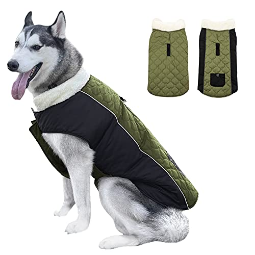 COUNER Winter Dog Coat Winter Dog Jacket Large Dog Coat Winter Coats for Large Dogs Pet Coat for Hiking Dog Coats for Indoor and Outdoor Dog Snow Jacket Pet Dogs Apparel for Cold Weather L