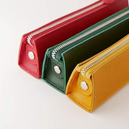 ペンケース筆入れ筆箱イタリアンレザーMサイズ革BTキャメルINL-4005スリップオン