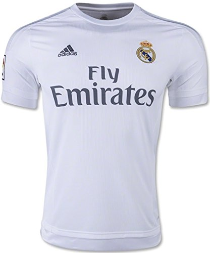 adidas Mens 2015 Real Madrid Home Jersey (S)