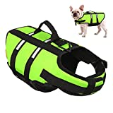AOFITEE Dog Life Jacket Reflective Life Vest, Safety Pet Swimming Vest Durable Life Preserver with Rescue Handle for Small, Medium and Large Dogs