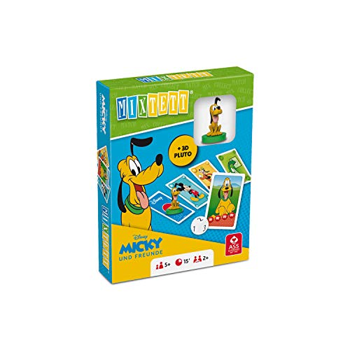 ASS 22522244 Disney Mickey & Friends-Mixtett Kartenspiel mit Spielfigur Pluto