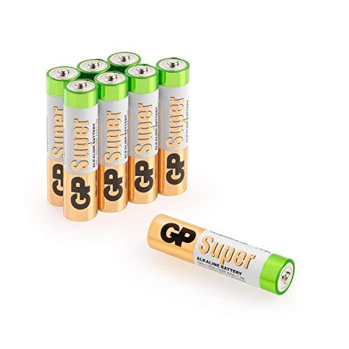 GP Batterien AAA (Micro, LR03) 1.5V, Super Alkaline Longlife Technologie, 8 Stück in Original-Blisterverpackung