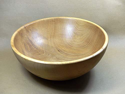 Holzschale rund aus Buchen Holz ∅ ca. 24,5 cm - H: ca. 10 cm handgemacht gedrechselt Schale Obstschale