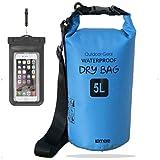 笑顔一番 新素材 防水バッグ ドライバッグ ドラム型 防水ケース付 5L 10L 20L 30L (7) ブルー, 10L